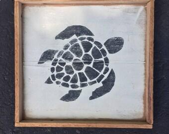 Sea Turtle - Reclaimed Wood