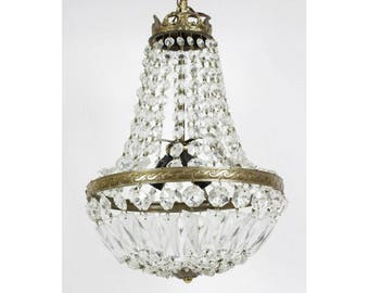 French Crystal Chandelier // Montgolfiere Chandelier