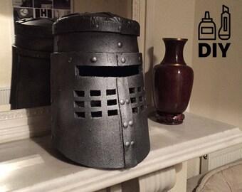 DIY Monty Python: Black Knight helmet templates for EVA foam
