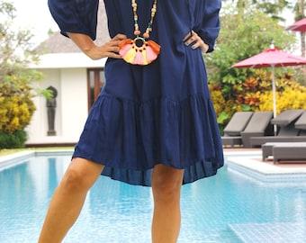 Frill loose fitting dress/Short Beach dress/Bohemian frill dress/Boho Frill Dress/Summer frill dress * IRIS SHORT DRESS