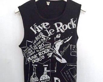 Vive le Rock shirt rare Seditionaries 1977 vintage t shirt Sid Vicious 70s punk band t-shirts 1970s punk rock clothing Little Richard tee