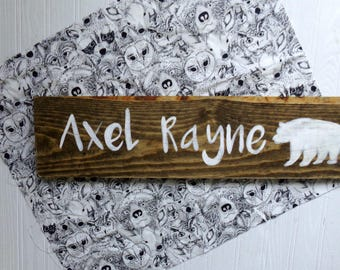 Woodland Nursery Name Sign, Woodland Themed Name Sign, Woodland Nursery Decor, Rustic Nursery Decor, Custom Name Sign, Baby Shower Gift
