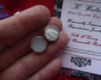 SL-0019 - Vintage Sleeve Links (Cuff Links) - Edwardian Cuff Links, Victorian, Reenactor, Living History, Wedding Cuff Links