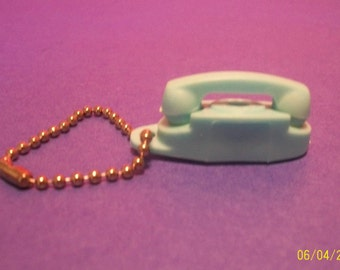 Vintage  Princess Telephone  Key Chain Powder Plue Small Phone  Telephone Advertisement