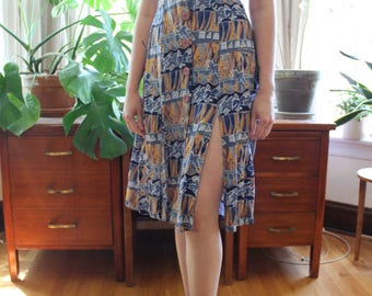 Avante Garde Floral Patterned Dress
