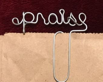 Praise Wire Bookmark Paperclip
