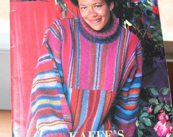 Kaffe's California Patches by Kaffe Fassett -- 10 Knitting Patterns -- Rowan, England -- Vest, Jacket, Sweater -- Roman Blocks, Stripes