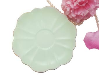 Mint Green Shelley Replacement Saucer Only, Stratford Shape, Bone China