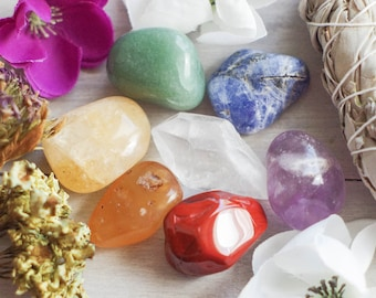 7 Chakra Stone Set - Gemstones - Healing Stones - Reiki Stones - Spiritual Stones - Zen - Meditation Stones - Tumbled Stones - Loose Stones