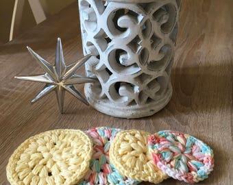 Crochet Face Scrubbies (eco friendly) Gesichtsschwämme öko Baumwolle