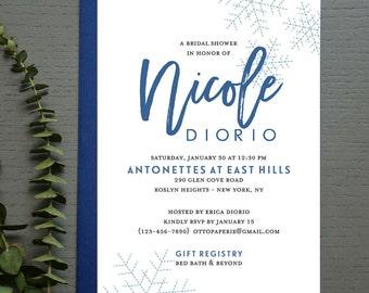 Snowflake Bridal Shower Invitation