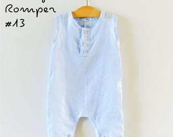 Digital Sewing Pattern: Baby/toddler Henley Romper