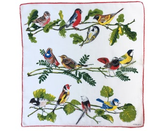 Bird Menagerie vintage ladies' handkerchief, hankie, hanky, H44