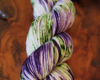 "Hand Dyed ""Purple Iris"", DK, Knitting, Crochet, Yarn"