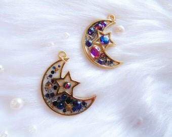 Amethyst Moon Bezel Charm
