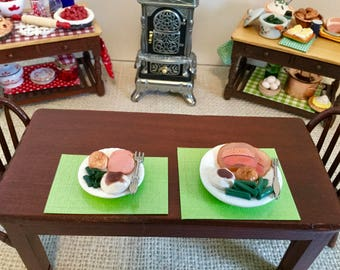 NEW Ham Dinner with all the Trimmings for Dollhouse or Barbie  Price for One Plate