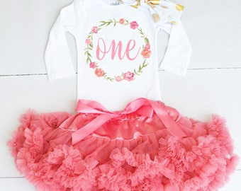 One Birthday Outfit - Baby Girl 1st Birthday Outfit - 1st Birthday Outfit Girl - First Birthday Outfit Girl - Girl First Birthday Outfit