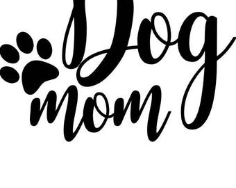 Dog Mom Decal, MadeInThe406, Solid Colors