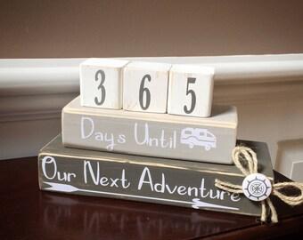 Countdown Adventure Blocks. Vacation Countdown Blocks. Cross Country Adventure Countdown