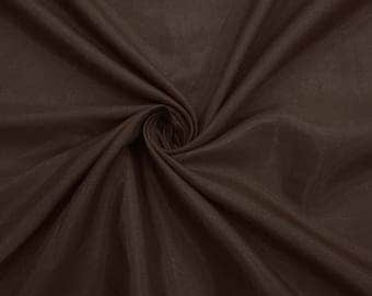 "Dark Brown Shantung Fabric, Dupioni Silk Fabric, Home Decor, Sewing Fabric, 44"" Inch Wide Fabric By The Yard ZSH3J"