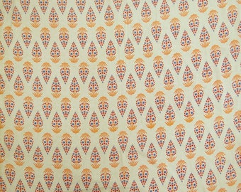 """Beige Fabric, Cotton Fabric, Dress Material, Quilt Fabric, Decorative Fabric, 43"""" Inch Fabric By The Yard ZBC8756A"""