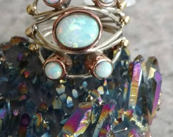 Five Stone Opal Ring, Size 8