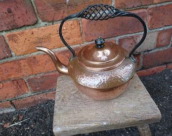 Gorgeous vintage continental Copper kettle