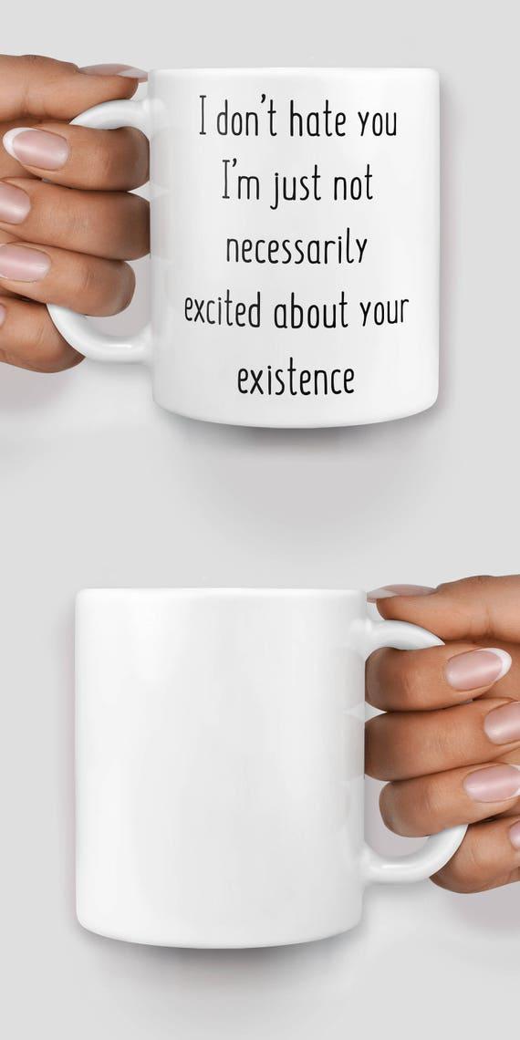 I don't hate you I'm just not necessarily excited about your existence mug - Christmas mug - Funny mug - Rude mug - Mug cup 4P042