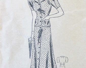Vintage Sewing Pattern - 1930s Blouse and Skirt Pattern - Marian Martin 9335