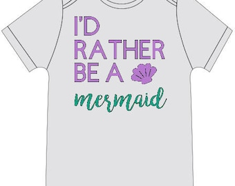 I'd Rather Be a Mermaid Baby Onesie
