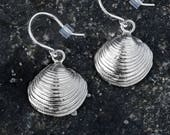 Ridged Clam Shell Earring...