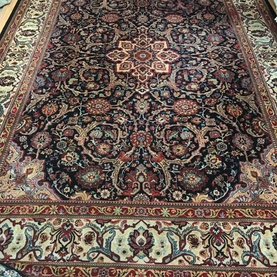 "9'9"" x 13'9"" Belgian Corestan Oriental Rug - Full Pile - 100% Wool"