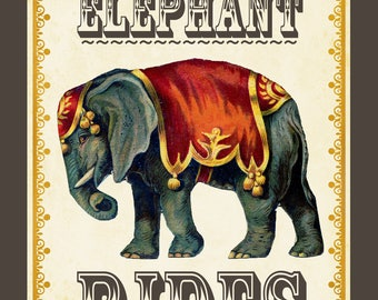 Vintage Circus Posters / Custom Download / Birthday Party / Circus Nursery Prints