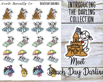 Beach Day Darlings Planner Stickers
