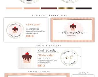 Bakery Logo Design, Cake Logo Design, Bakery Logo, Cupcake logo, Baking logo, Bakery blog logo, Discount voucher, Patisserie logo, Logo 179