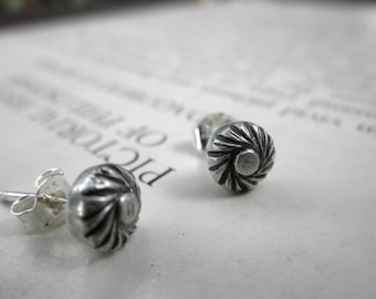 Southwest Studs, Swirling Studs, Decorative Shot Studs, Silver Shot Studs, Silver Studs, Southwest Earrings, Silver Earrings
