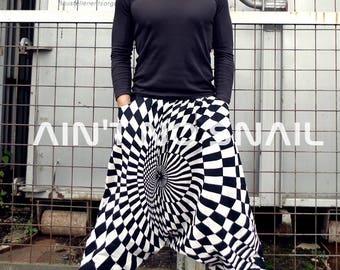 Optical Illusion Blacklight UV Harempants, Psytrance Festival Clothing, Psychedelic, up to 105cm