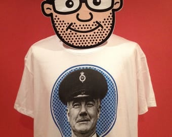 Porridge - Mr Mackay T-Shirt (Fulton Mackay / Ronnie Barker) - White Shirt
