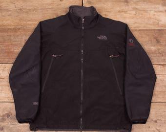 "Mens Vintage North Face Black Summit Series Windstopper Jacket Medium 40"" R7060"
