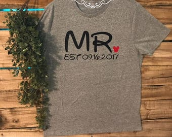 SHIRT: Disney. Disney Honeymoon. Disney Vacation. Mickey Shirt. Mens Disney. Mens shirt. Mickey. Est. Wedding. Married.