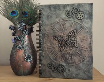 A5 notebook, Steampunk notebook, Butterfly notebook, Hardback notebook, Gothic notebook, Gothic diary, Gothic journal, Steampunk diary
