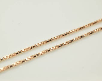"18K Rose Gold Filled Chain 17.25"" Inch CG216"