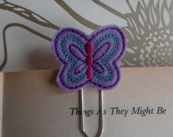 Felt Planner Clip - Planner Accessory - Stationery - Cute Paper Clip - Bookmark - Planner Clip - Butterfly Bugs -  Book - Paper Clip -