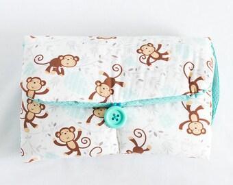 Monkey Zoo   Baby Travel Changing Pad, Diaper Mat, Baby Shower Gift