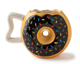 Donut/doughnut coffee/tea Mug Cup funny gifts, gifts for her, gifts for him, Christmas gift, unique gifts