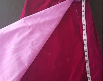 SALE!!! Vintage Fuchsia Velvet dress