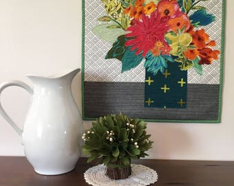 Fabric Collage/Art Quilt/Wall Hanging/Wall Quilt
