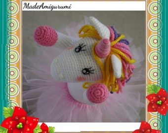 Crocheted Unicorn for toddler - Magical Unicorn - Toys for toddler
