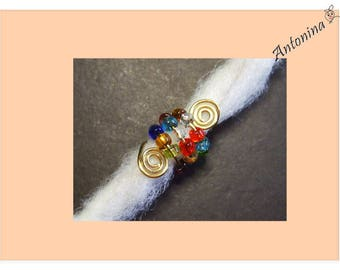 Colorful dread bead beaded brass dread jewelry metal dread locks jewelry dread dread spiral jewelry Dreadspiralen