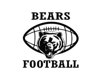 Bears Football high school college SVG File Cutting, DXF, EPS design, cutting files for Silhouette Studio and Cricut Design space clip art